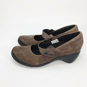 Merrell Womens Cloudy Nubuck Mary Janes Shoes 6.5